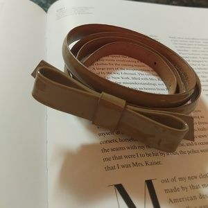 J.Crew Leather Patent Belt Size M